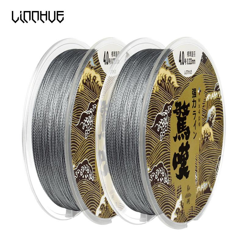ports & Entertainment LINNHUE 4 Stands 100M Japanese Multifilament Super Strong Pe Braided Fishing Line Japanese Raw Silk Saltwater Sea F...