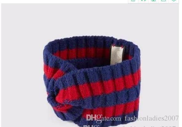 여성과 남성 Headwraps 선물 100 % 양모 크로스 헤드 밴드 고품질 브랜드 탄성 녹색, 파란색, 빨간색 소라 헤어 밴드