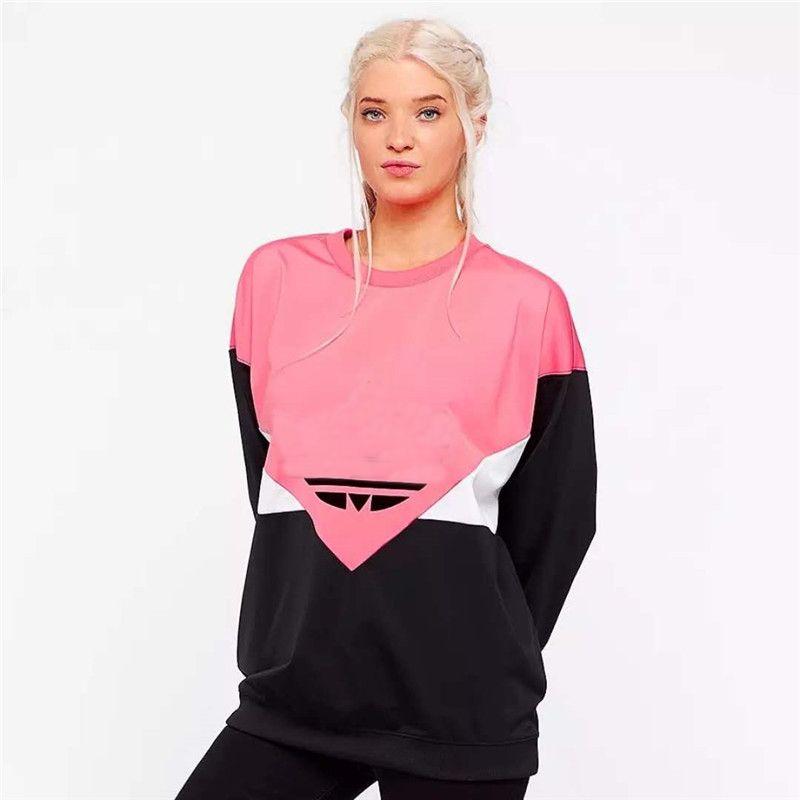 Designer Hoodie Mulheres Hoodies e Moletons Com Capuz Casuais Nova Moda Maré de Luxo Mulheres Casaco Com Capuz com Letra Impressa Rosa M-2XL