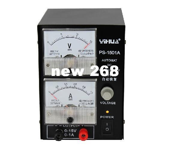 Freeshipping YIHUA 1501A 15V 1A Adjustable DC Power Supply Mobile Phone Repair Power Test Regulated Power Supply