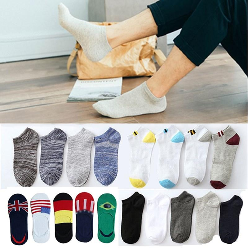 5Pair/Lot Men Socks Autumn Winter Unisex Casual Ankle Socks for Man Breathable Hip Hop Cotton Classic Business Sock Meias