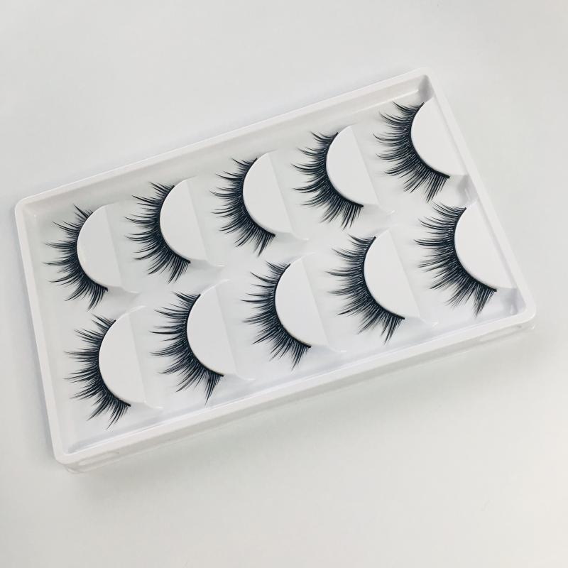 False Reelashes Натуральные Черные 5 Пары Мода Мяч Дым Макияж Инструменты Поддельные Crisscross Мягкие Длинные 3D Ресницы для глаз
