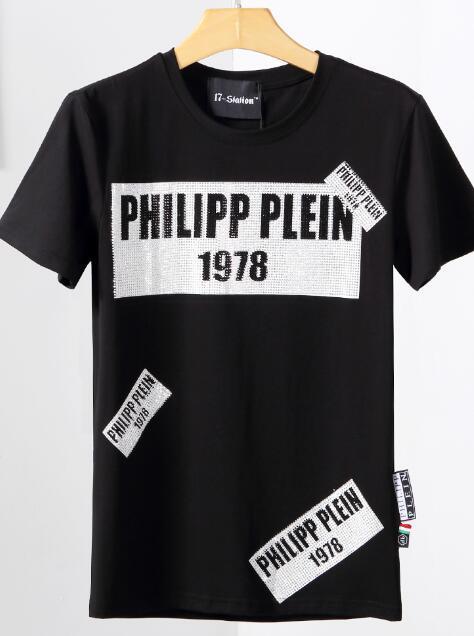 T-Shirt mit kurzen Ärmeln Baumwolle Schädeldruck T-Shirt mit Rundhalsausschnitt der neuen Männer dünnes T-Shirt der Männer G124 Art und Weise Pullover Skateboard top