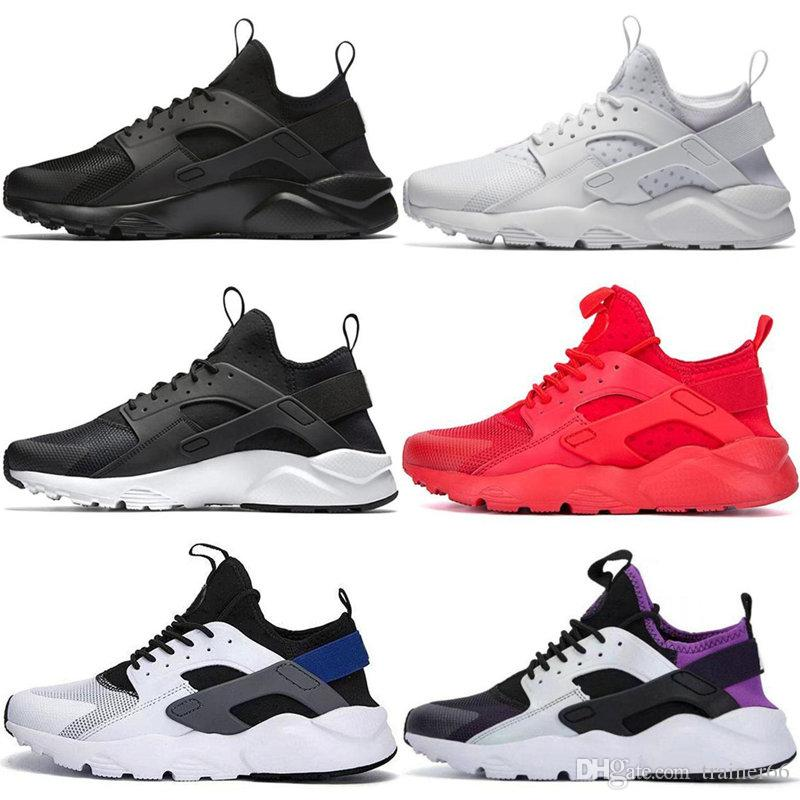 Huarache 1.0 4.0 Run Ultra SE IV Men Running Shoes Trainer Triple Black Red Pink Gold Rose Athletic Sport Sneakers 36-45