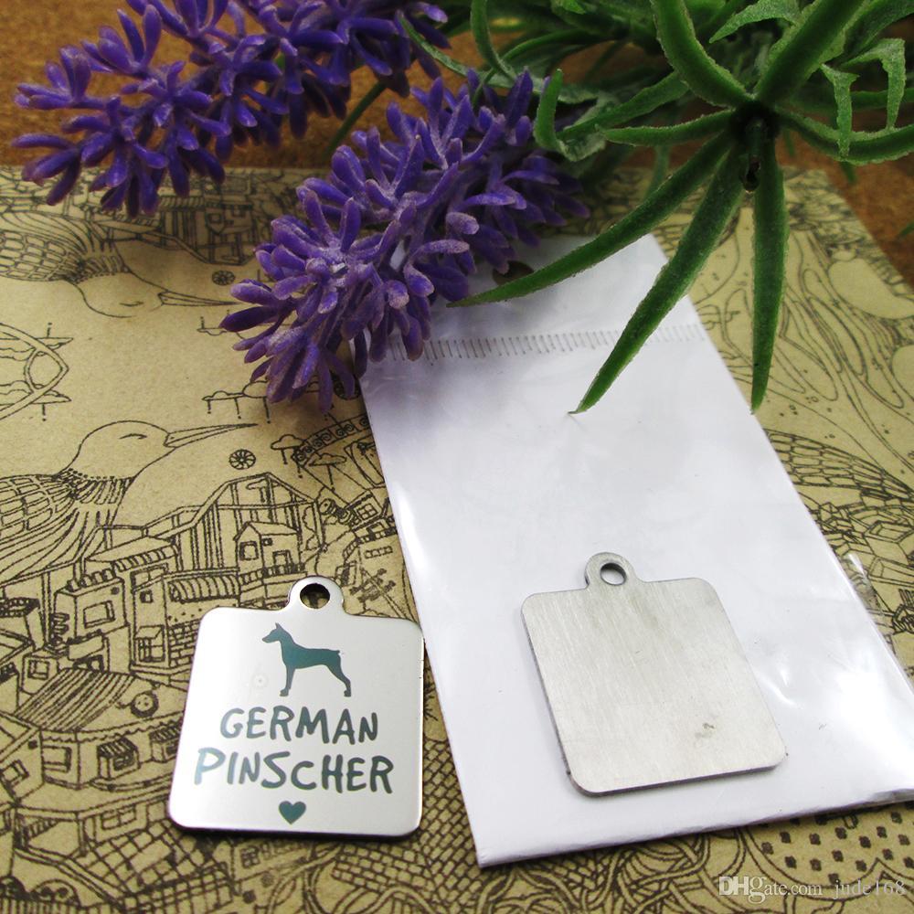 40pcs - «Немецкий пинчер собака» прелесть нержавеющей стали больше стиля для выбора DIY очаровывает подвески для ожерелья