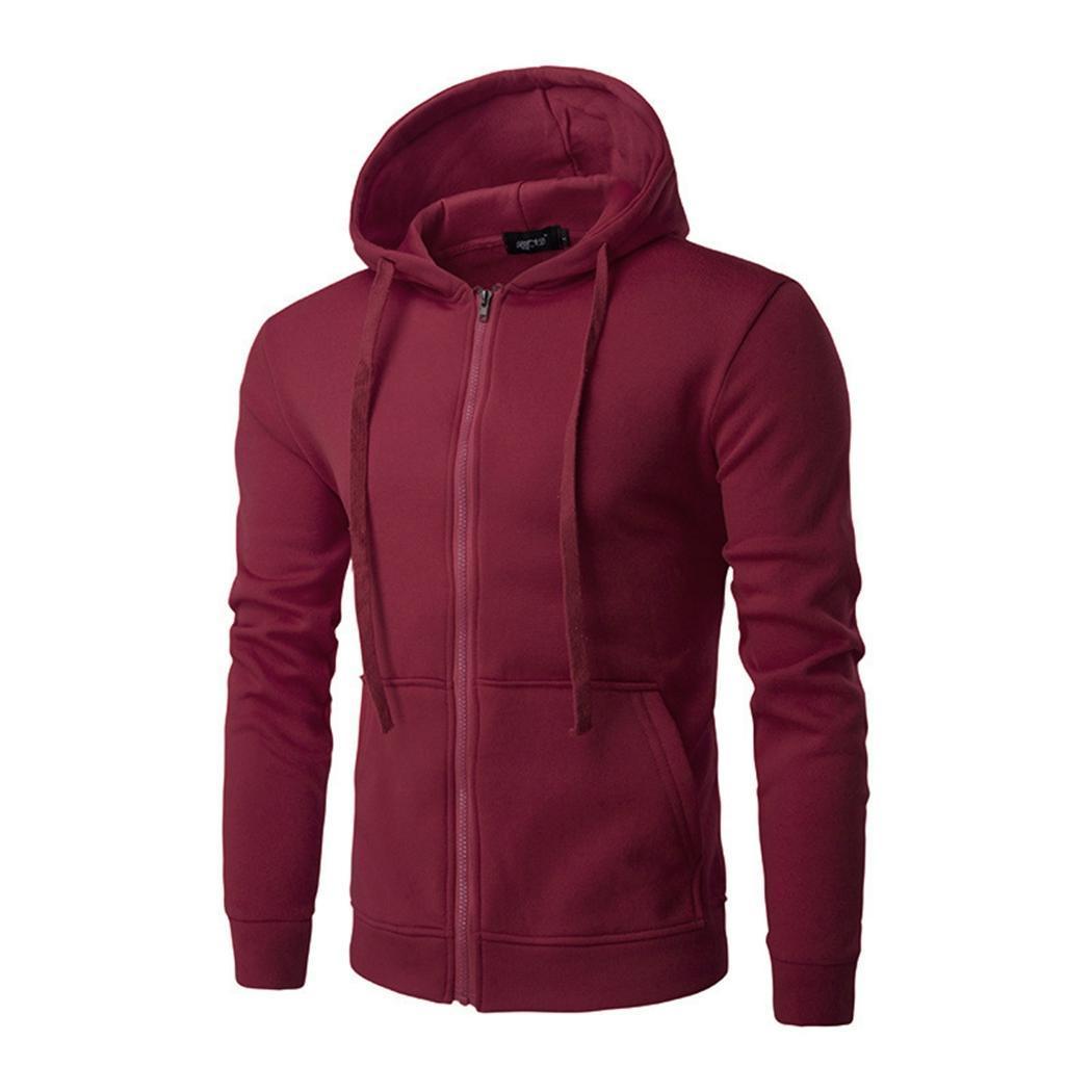 New Men Plain толстовки моды флис Zipper Up Jacket Толстовка Марка мужская с длинным рукавом Карманный пуловер плюс размер 3XL Sudadera