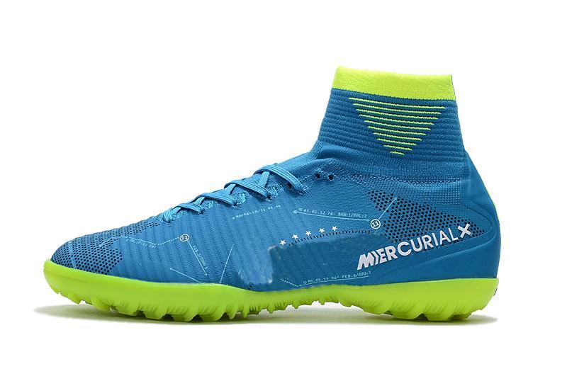 أزرق أخضر لكرة القدم المرابط زئبقي ال superfly V TF SX نيمار أطفال كرة القدم في الأماكن المغلقة أحذية عالية أحذية الكاحل كريستيانو رونالدو رجل إمرأة كرة القدم