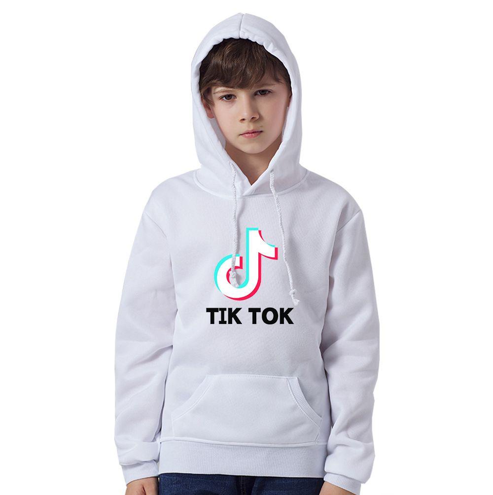 Meninos Tiktok Designer Hoodies impressão 3D Sweater Boy Hoodie camisola Moda High Street Long Sleeve Children tops com capuz