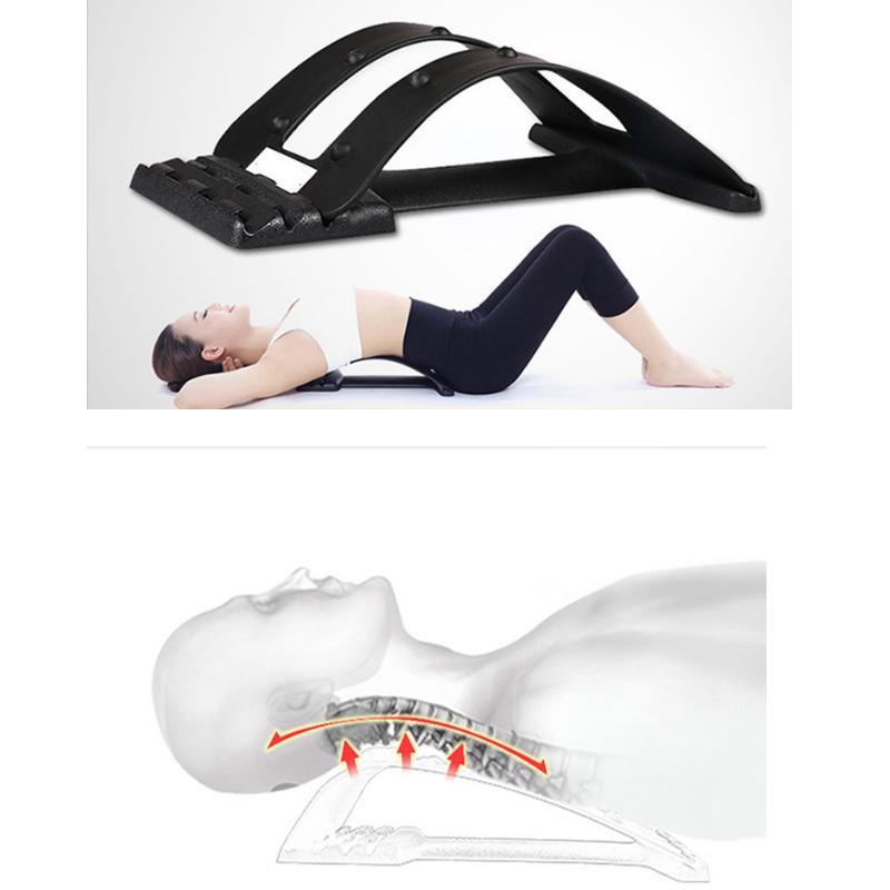 Massage du dos Magic Stretcher Fitness Equipment Stretch Relax Mate Civière Soulagement de la douleur de la colonne vertébrale Chiropratique