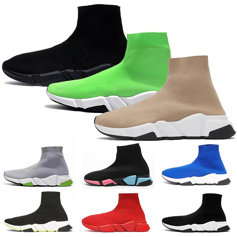 2020 new platform designer sock shoes speed trainer mens womens socks casual shoes vintage tripler black white étoile boots luxury sneakers