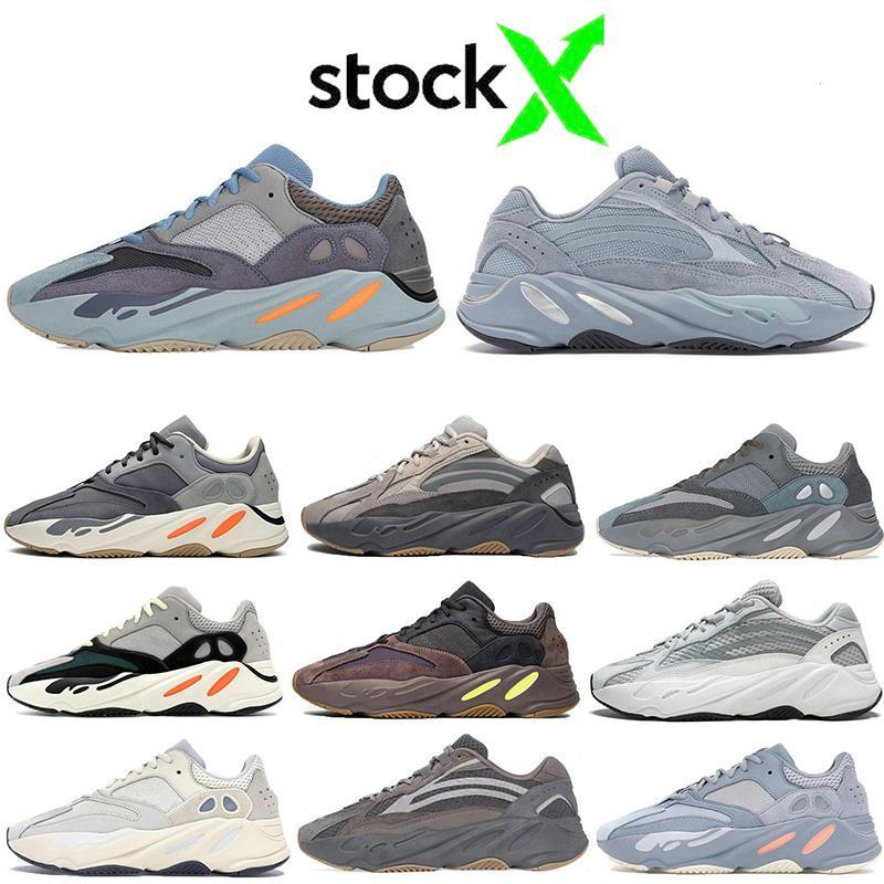 Top Fashion kanye Carbon-Blue Wave Läufer 700 Schuhe Männer Frauen Krankenhaus blau Trägheit tephra statisch 700s 3M Reflex Sport Turnschuhe laufen