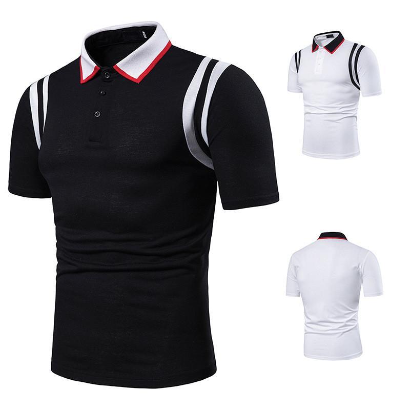 2020 Affaires nouvelles Hommes Polos Designer Couleur unie cou à manches courtes revers en vrac Polos Vêtements décontractés Hommes