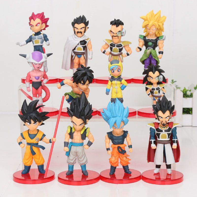 6pcs / set WCF Dragon Ball Z Super Saiyan Goku Gohan Vegeta Vegetto Freeza Janemba Broli Q PVC Figuren Spielzeug Y191105