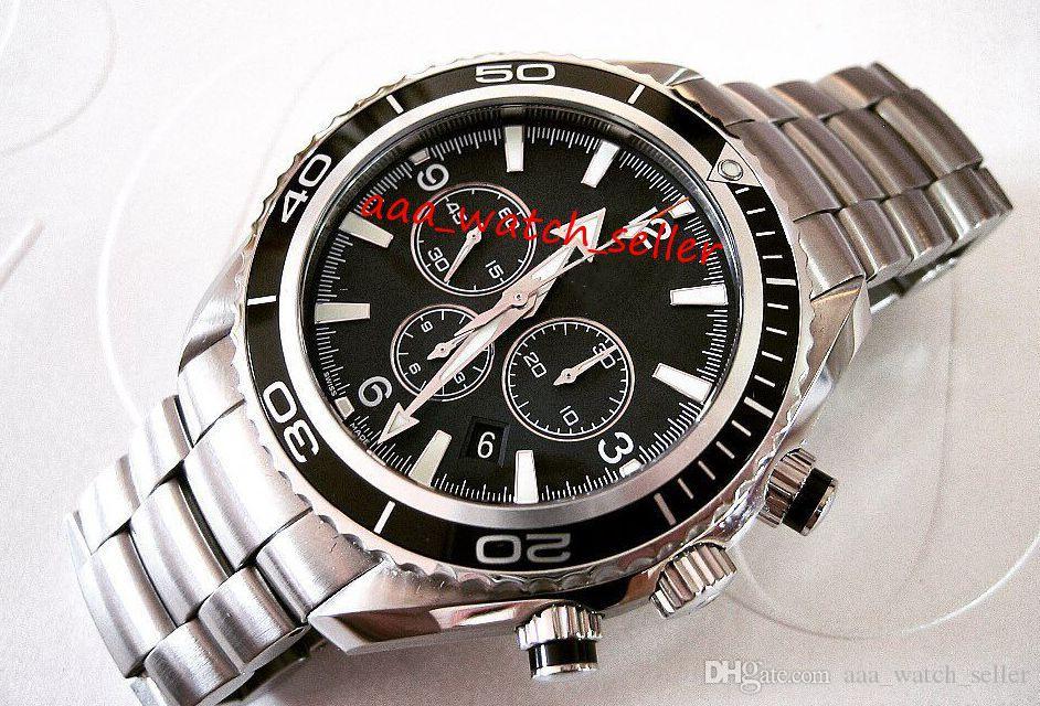 2 цвета мастеров-роскошных мужские часы Planet Ocean Chrono 600M 222.30.42.20.01.001 Нет хронографа керамический безель наручные часы автоматические движения
