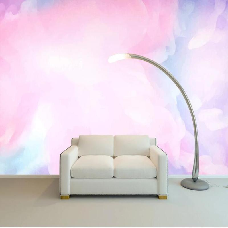 personalizado milofi mural 3D nuvem aquarela fundo wallpaper
