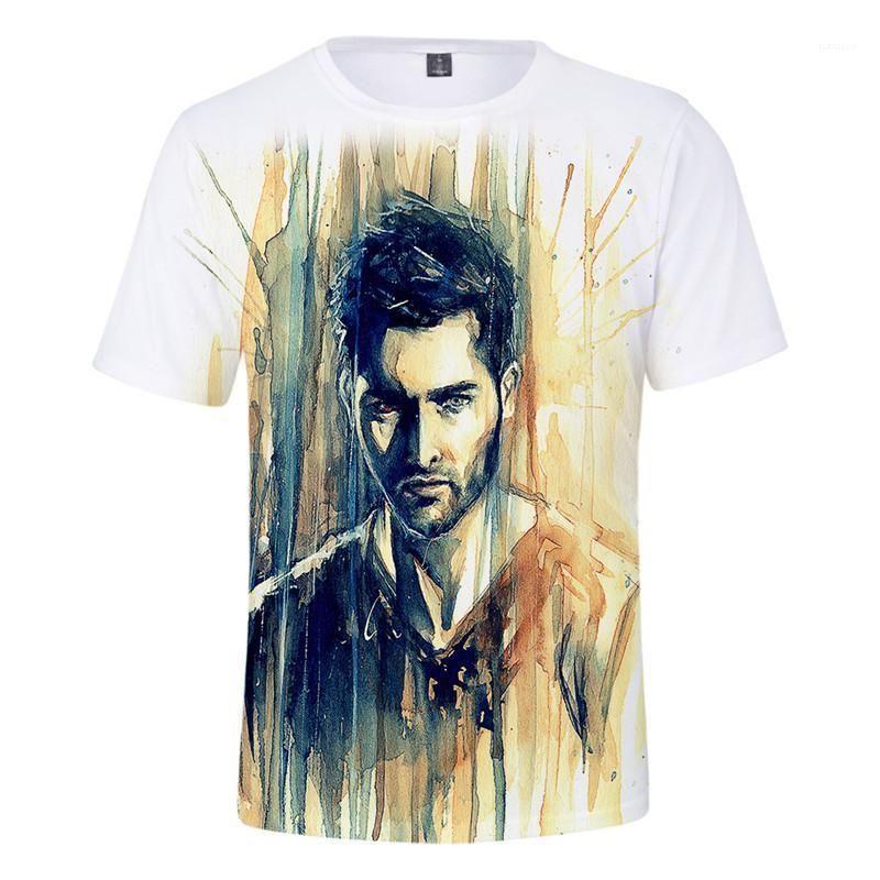 Cou à manches courtes Mode Homme T-shirts Vêtements Couple Teen Wolf 3D Derekhale Hommes Imprimer T Crew