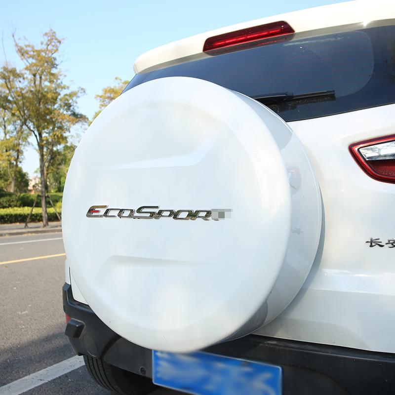 القليل من التغيير ABS عجلة القيادة تريم الترتر ملصقات لفورد Ecosport 2013 -2016 New Fiesta 2012 - 2016 اكسسوارات السيارات