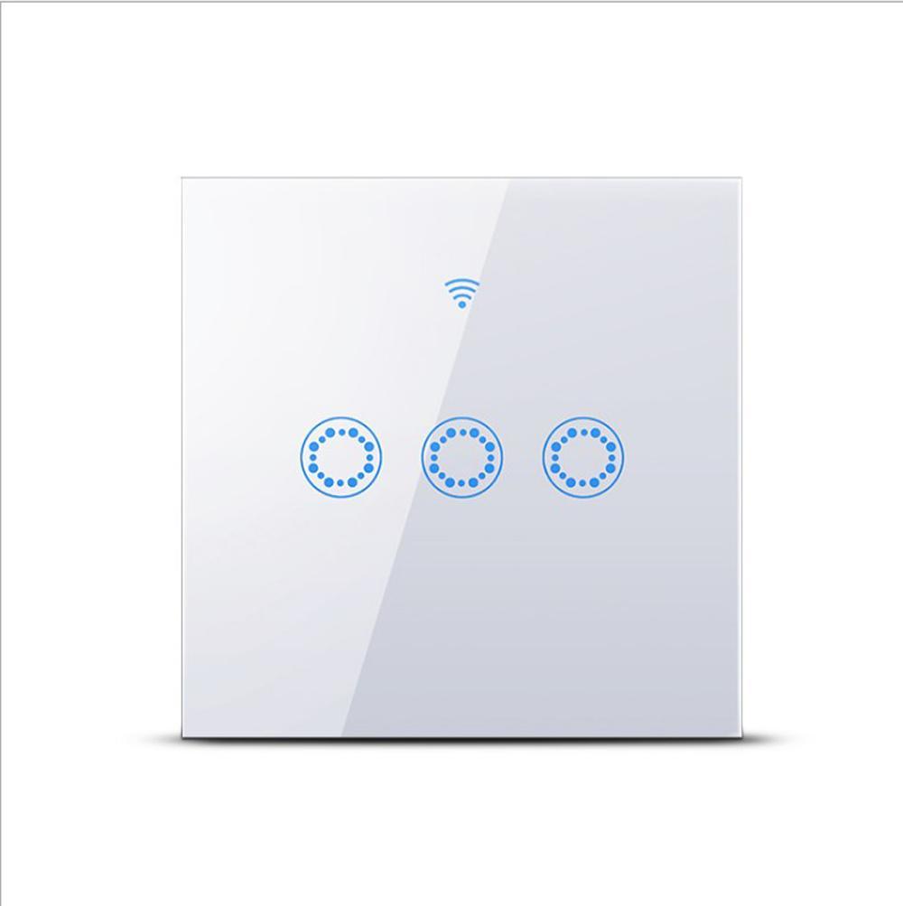 Tipo TUYA APP EU UK smart switch tocco dei 3 gruppi monocomando WiFi + RF interruttore di comando a distanza