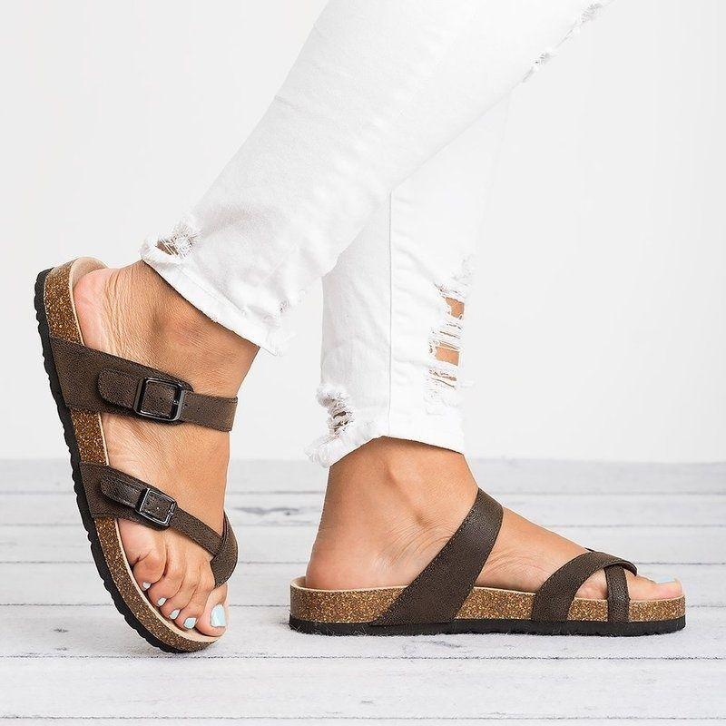 Mulheres Designer Sandálias sandálias 35-44 New Arrival bem Vendendo Tamanho Grande Belt Buckle e Toe Extrator Platform Estilo mulheres Slide11