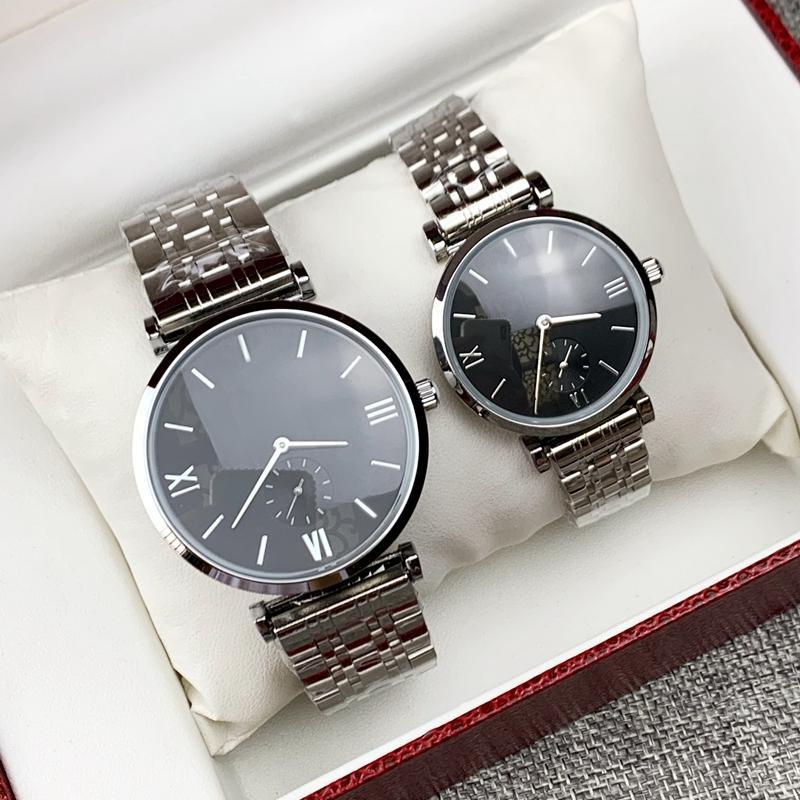 2020 Moda Yeni Tasarım Erkekler / Kadınlar İzle Gümüş Paslanmaz Çelik En Kaliteli Severler Saatler Adam Kuvars Lüks Saatler İş Klasik Saat