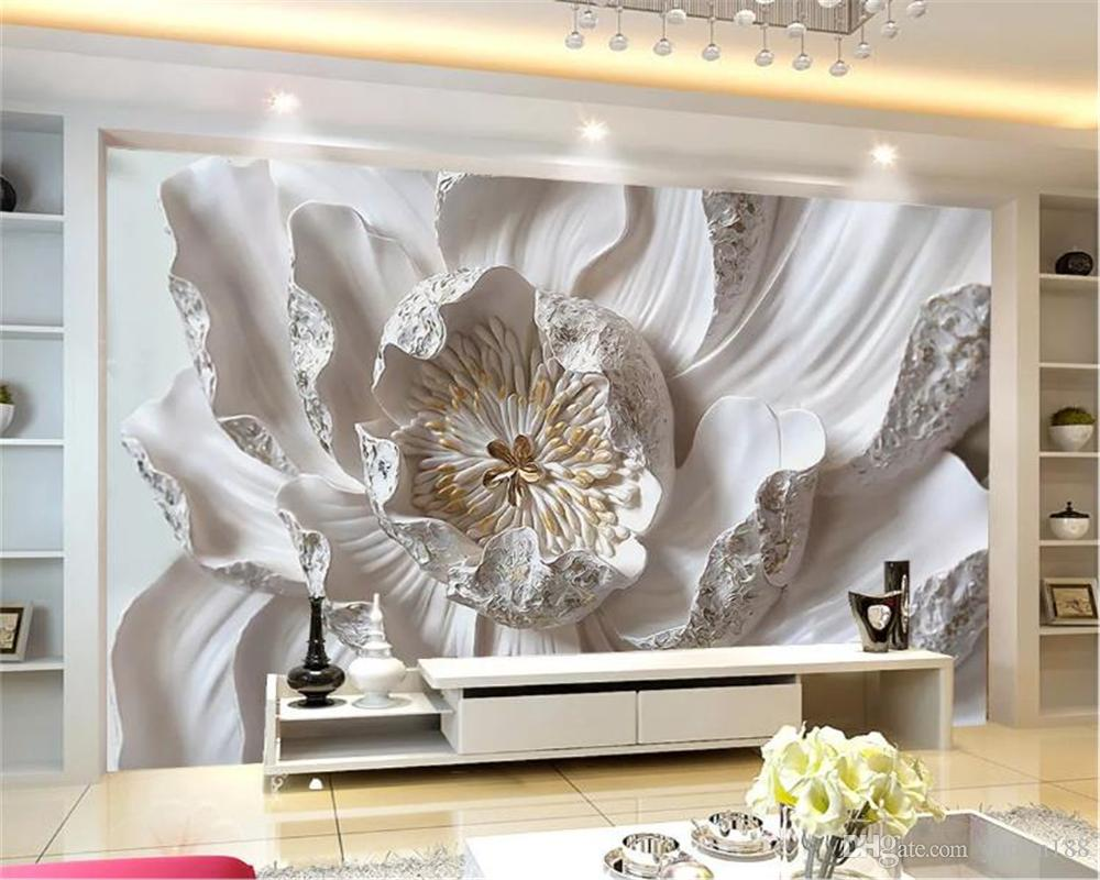 Décoration Murale En Relief 3d wallpaper large 3d pink relief gold flower living room bedroom  background wall decoration mural wall paper simpsons wallpaper space  wallpaper from
