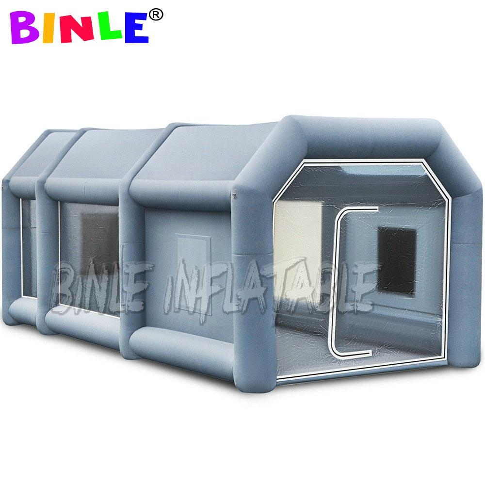 High quality industrial inflatable spray paint tent for car truck and bus tan cabine tent car wash workstation shelter for sale