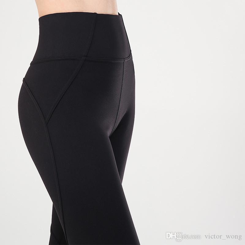 Йога гетры LL8812 Женщины Девушки Длинные брюки Runnig Дамы Повседневный Йога для взрослых Костюмы Спортивная одежда Фитнес упражнения