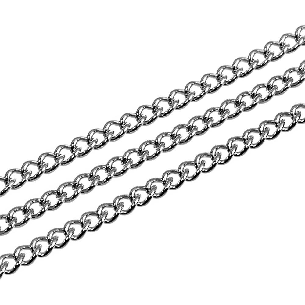 wholesale 10 Yard Silver Plated Stainless Steel Necklace Chains Wide 1/1.5/2/2.5/3mm Bulk Chain for DIY Jewelry Findings