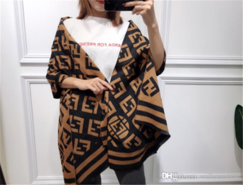 Letter Pattern Imitation Cashmere Scarf Women Autumn and Winter Scarves Warm Shawl Long Thickened Neck Scarves