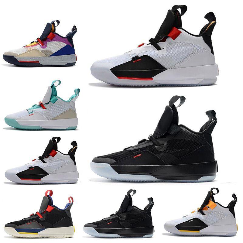 33 Erkek Basketbol Ayakkabı 33 s PE Gelecek Uçuş Guo Ailun Teknik Paketi Görünür Yardımcı Blackout XXXIII erkekler Spor Sneakers 7-12 Bırak Gemi