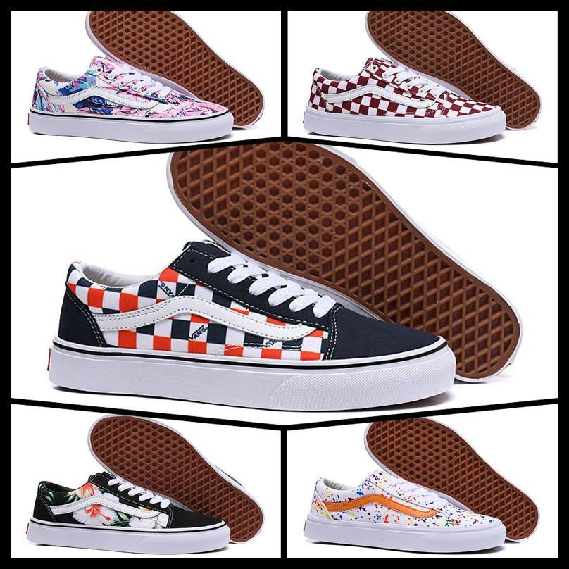 2020 Cheap Brand Van Sk8 Old Skool Fear Of God Men Women Canvas Sneakers Classic Black White YACHT CLUB Red Blue Fashion Skate Casual Shoes From