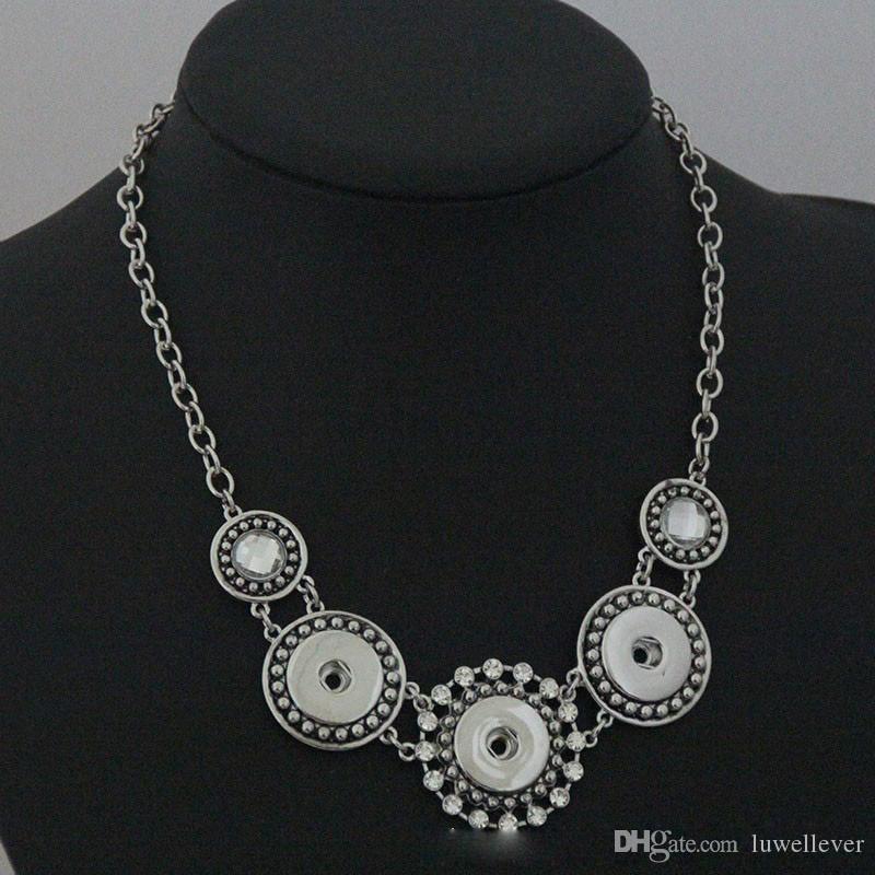 Moda intercambiable hojas de flor de cristal collar de jengibre 296 Fit 18 mm botón a presión colgante, collar de la joyería del encanto para las mujeres regalo