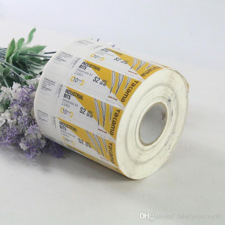 Paquet de papier personnalisé Étiquette adhésive Étiquette Glossy Vernissage Vernissage Imprimer Logo Stickers Étiquettes de bouteilles