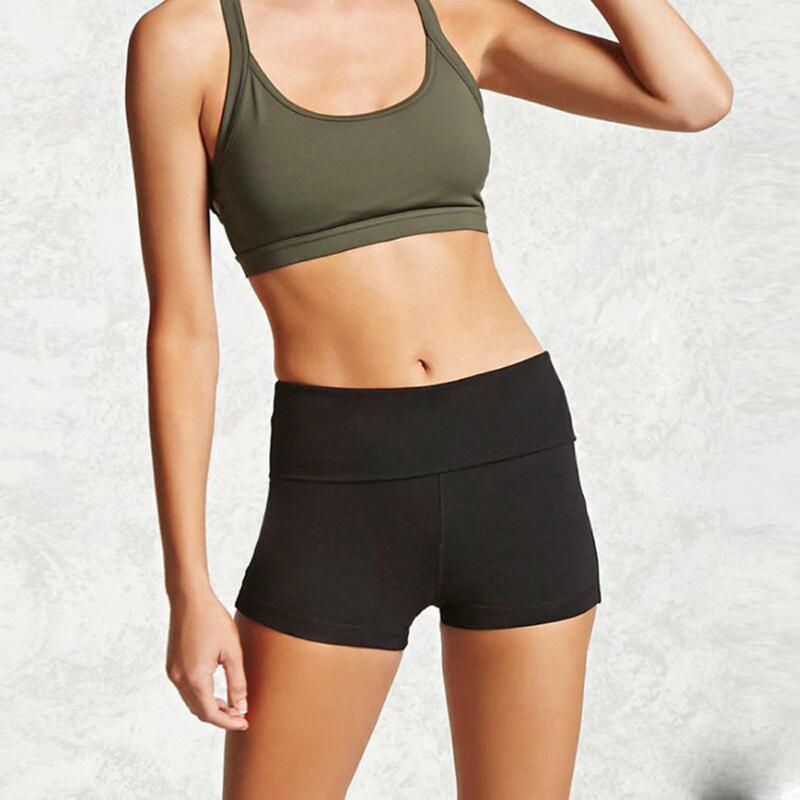 Yoga bicchierini elastici allentati casuali Donne laterale Split elastico in vita dei pantaloni di scarsità Ginnastica Copre Fitness Corsa sottile sport Shorts #sw