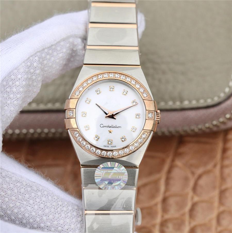 ZF constellation orologio de luxe 27mm bracelet en acier raffiné 1376 mouvement mécanique à remontage automatique montres dame montres montres design