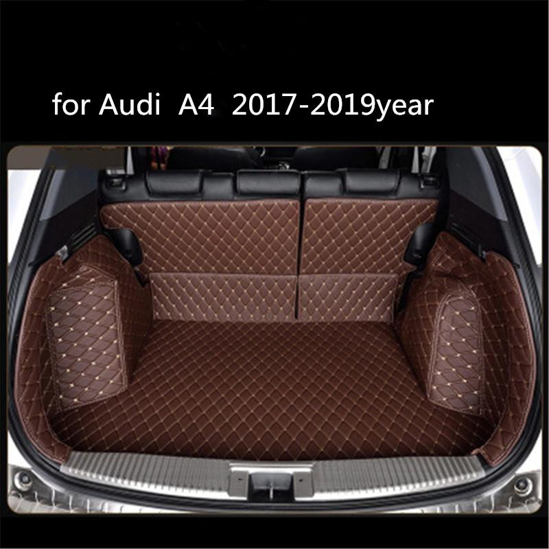 Audi A4 2017-2019year pelle Bagagliaio surround completo Tappetino Pallet Carpet