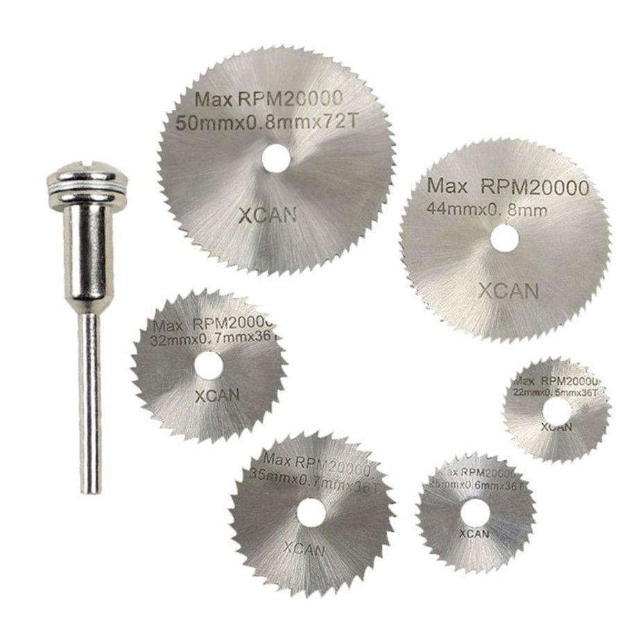 HSS Rotary Tools Circular Saw Blades Cutting Discs Mandrel Cutoff Cutter Power tools multitool dremel dremel tools 7Pcs/set