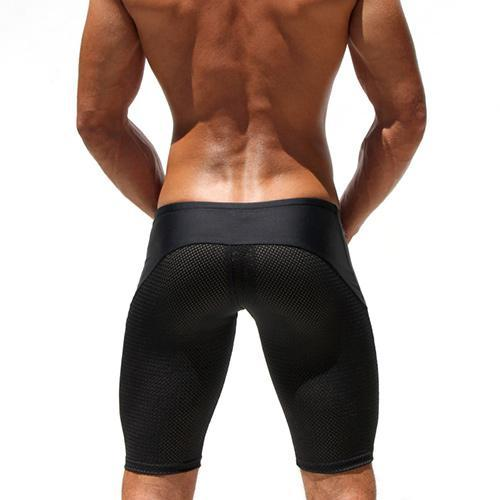 Classic Skinny Mens Tight Shorts Casual Leisure Fitness Men Workout Shorts Mesh Breathable Crossfit Sweatshorts New Tide
