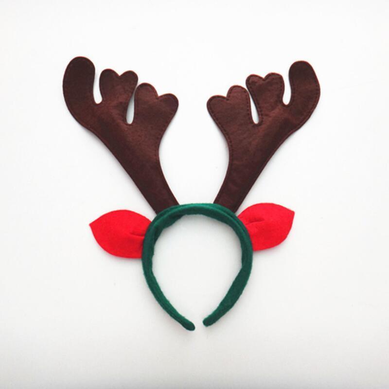 Corno di cervo fascia corno corno di Natale fascia con le orecchie di Natale Headwear banda campane di tintinnio corna di renna capelli