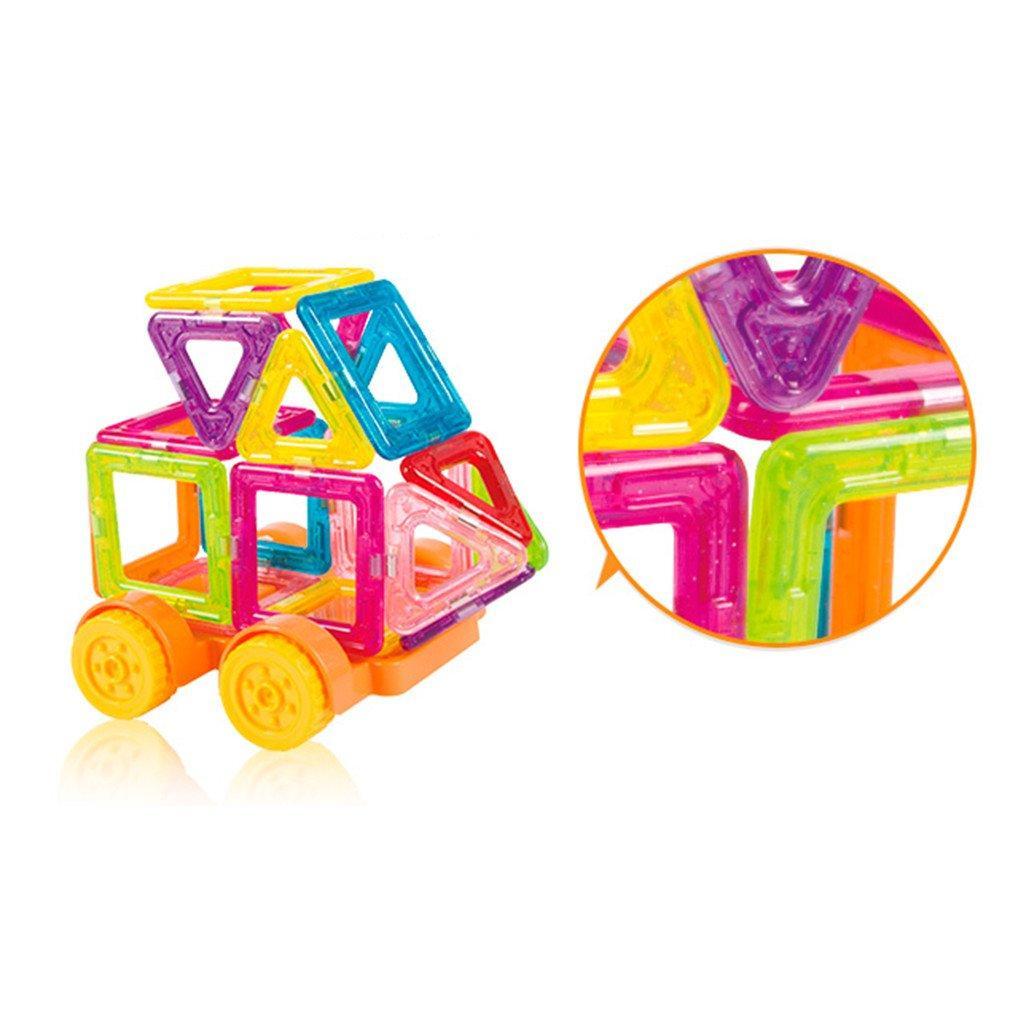 56pcs Mini Designer Magnetic Construction Set Modèle de construction jouet en plastique blocs magnétiques Jouets éducatifs pour les enfants gifs