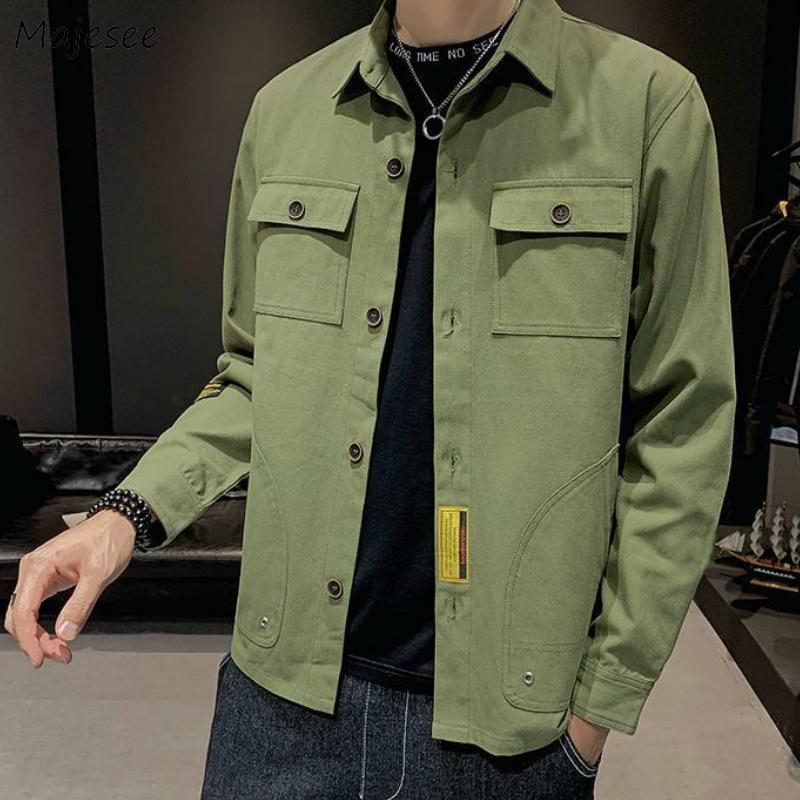 Giacche Uomo Safari Solido Casuale di moda coreana Outwear Streetwear monopetto Slim confortevole Chic Tutto-fiammifero Trendy