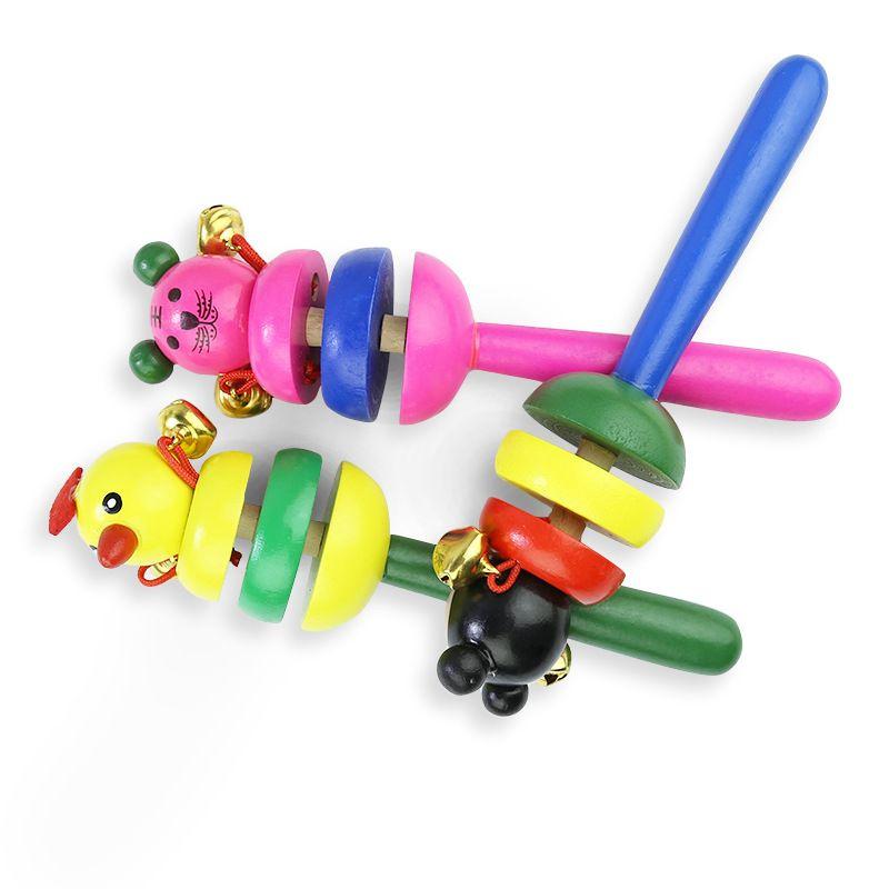 아기 장난감 딸랑이 나무 활동 벨 스틱 셰이커 아기 장난감 신생아 어린이 핸드폰 딸랑이 아기 장난감에 대한 아이의 선물