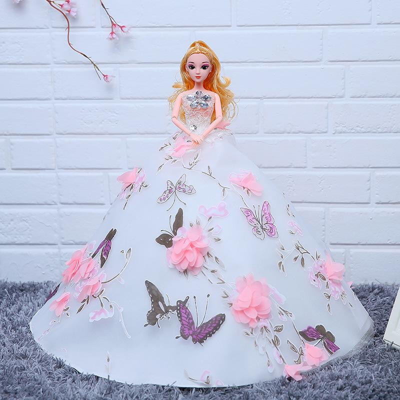New Wedding Dress Cling To Than A Doll Girl Toys More Joint Will Princess Birthday Gift Goods Of Furniture For Display Rather Than For Use