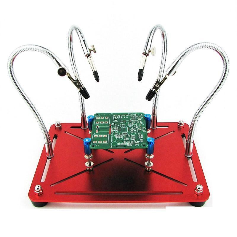 Universal metal 4 flexível Braços Magnetic Ajudar Repair Mãos solda Ferramenta de Trabalho PCB Circuit Board Stand Holder
