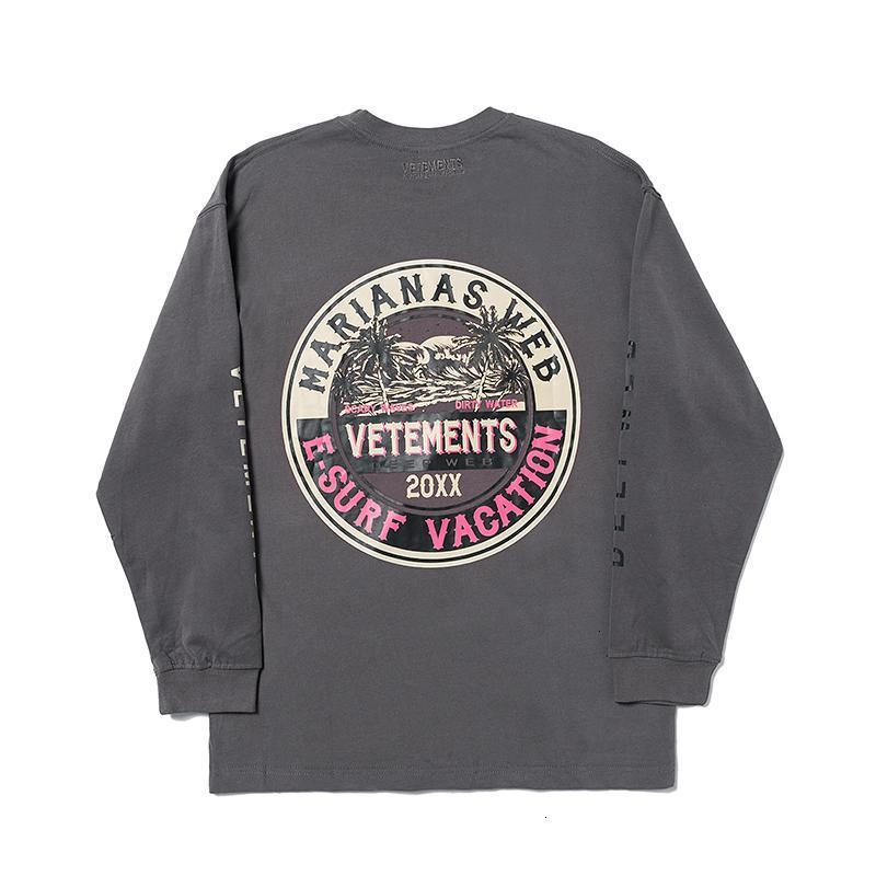 19FW VETEMENTS LOGO Letter Printied Sweatshirt Men Women Fashion Casual Pullover Couple Street Skateboard Long Sleeve HFHLWY063