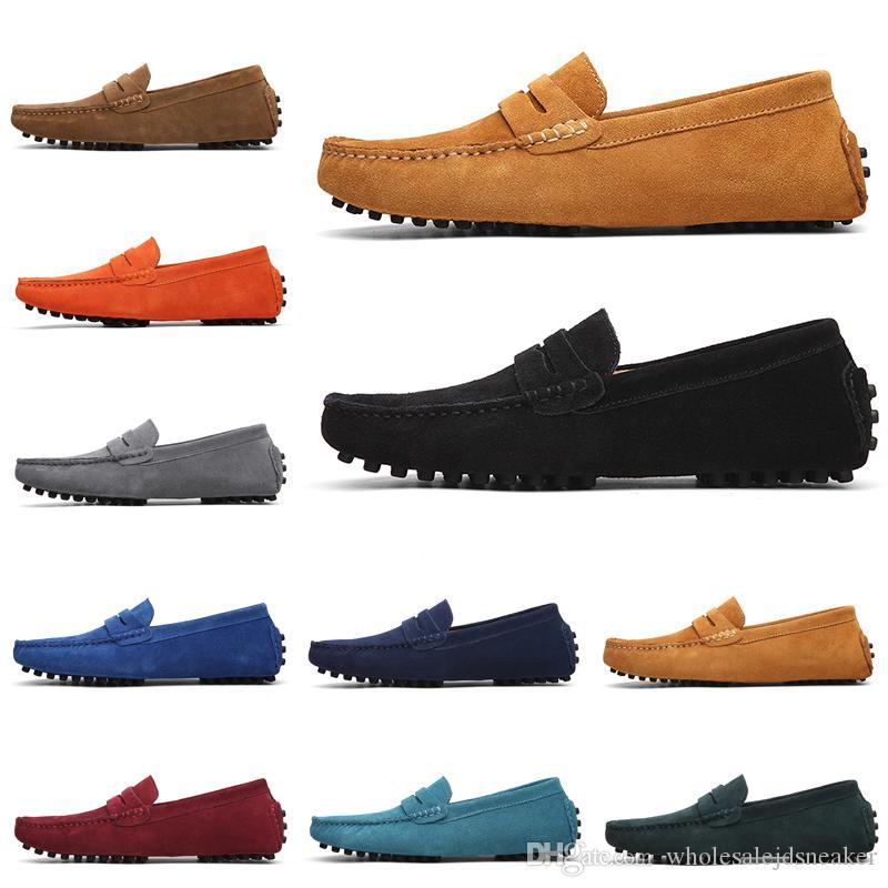 New Non-Marken-Designer-Loafers Schuhe Slip-on Männer Casual Schuhe Herren-Kleid Turnschuhe Vintage Triple Black Grün 38-47 Art 9
