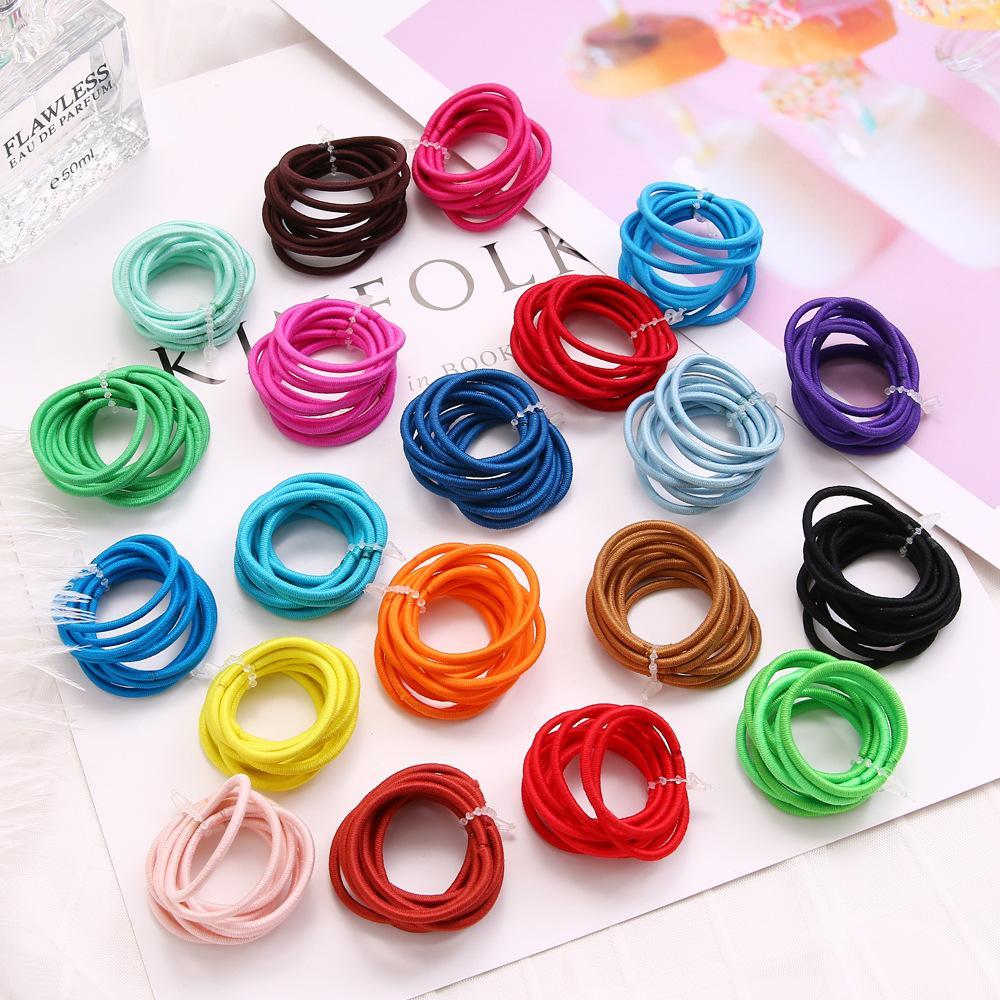 10Pcs Candy Rubber Band Baby Girl Hair Ties Kids Elasticity Mini Cord Hair Band