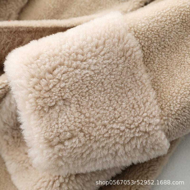 Coat Winter 2020 Women Real Fur Coats Female Elegant Korean Casual Long Wool Jacket Ladies Warm Women's Fur Coats 868582 s 's s