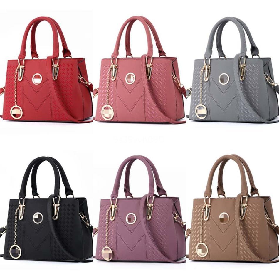Tasarımcı çanta 2020 Yeni Orta Messenger Çanta Kadınlar Moda Flap Çanta Deri Pu Totes Omuz Çantası Çapraz Vücut # 916