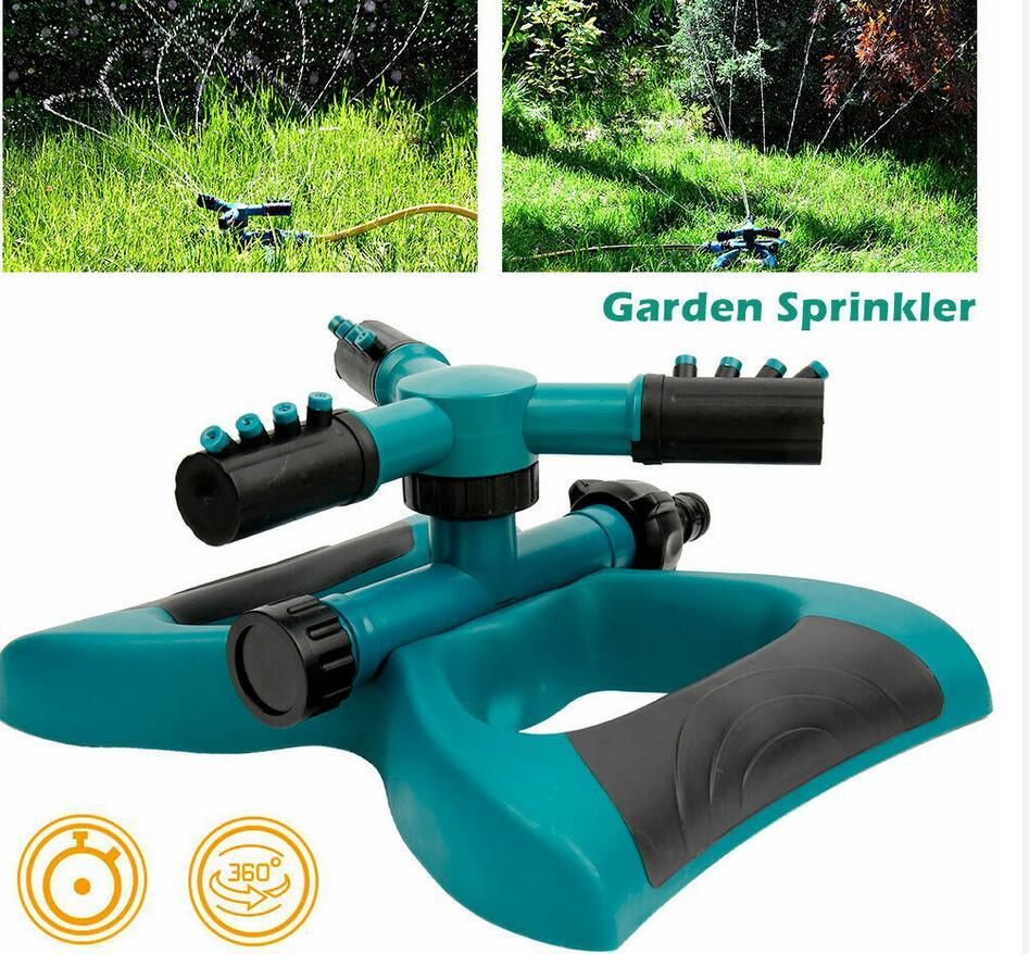 Stainless Steel Tripod Water Irrigation Tool Plastic Sprinkler Auto System Garden Lawn Supplies